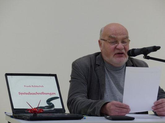 Autor Frank Rebitschek bei der Lesung