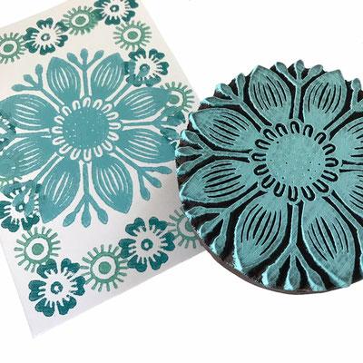 Indische Textildruck Stempel aus Indien - Block Print.