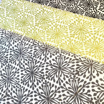 Block Print Stoff Design ELENA  - 100% Cambric Baumwolle - handbedruckt in Indien mit Holz Modeln - Stempeldruck
