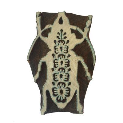 Holzstempel Käfer für Textildruck erhältlich über den Onlineshop