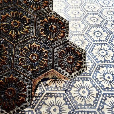 Block Print Textildruck Kurs mit indischen Holzstempel in Wädenswil Zürich
