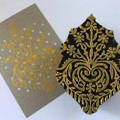 Indische Holzstempel für Textildruck und Papier
