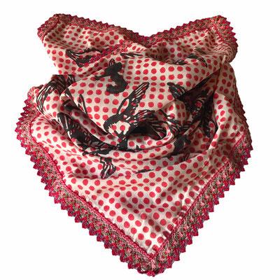 Block Print Hasltuch 100% Baumwolle 85x85cm handbedruckt in Indien - entworfen von maasa