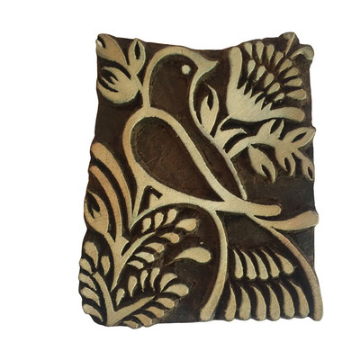 Indische Holz Druck Stempel für Textildruck / Präge Stempel für Keramikbedarf