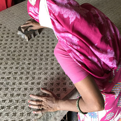 Textil Rundreise Rajasthan - Bagru Mud Resist Indigo Block Print Workshop