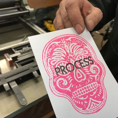 Letterpress Block Print Workshop mit Anja Vanal und Lukas Jenni