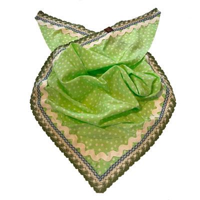 Dreieck Sommerkopftuch oder Gesichtstuch als Behelfs Mund Nasen Maske Wädenswil