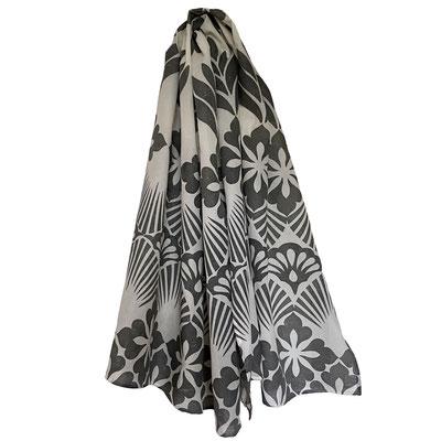 Block Print Halstuch Meret 100x160cm Bio Baumwolle, gedruckt in der Schweiz mit natürlichen Textildruck Farben