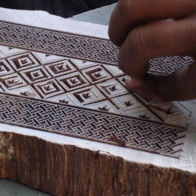 Block Print, eine alte Drucktechnik aus Indien
