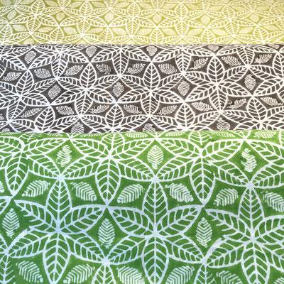 Block Print Stoff Design LIA  - 100% Cambric Baumwolle - handbedruckt in Indien mit Holz Modeln - Stempeldruck