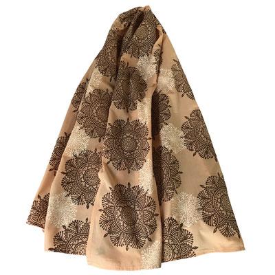 Handbedruckte Halstücher aus Bio Baumwolle Batist Natur, gefärbt mit  Pflanzenfarben, bedruckt mit Naturfarben