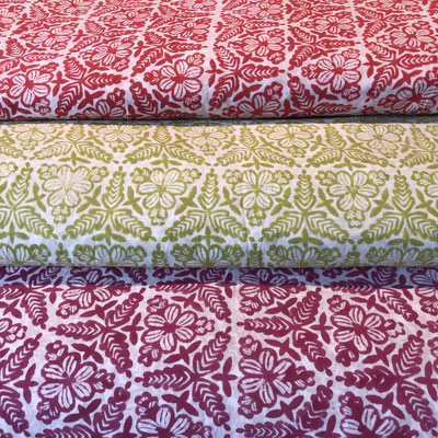 Block Print Kollektion Maasa Production Pvt. Ltd. 100% Cambric Baumwolle - Handdruck