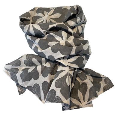 Block Print Halstuch, Bio Baumwolle mit Naturfarben Druck