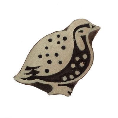 Holzstempel Vogel für Textildruck