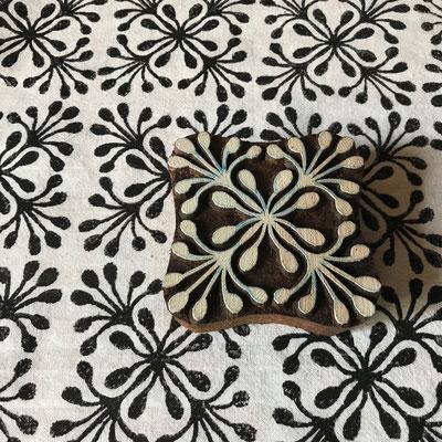 Indische Holzstempel für Textildruck