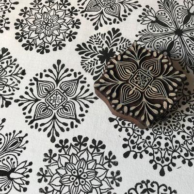 Stempel für Stoffdruck mit indische Holzstempel für Textildruck und Papier