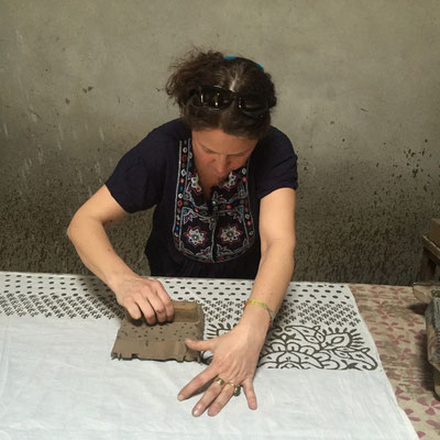 Anja Vanal unterwegs in Indien - Block Print