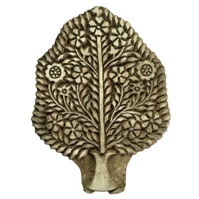 Holzstempel Baum für Textildruck