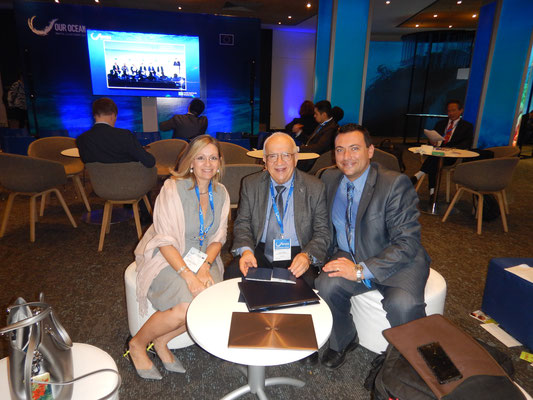 L-R: Antonella Vassallo, Dr Awni Behnam, Prof Alan Deidun. Photo credit: A. Deidun