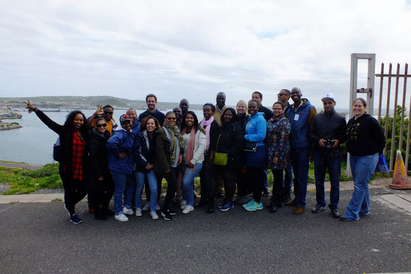 Group photos of participants & staff at the Port of Saldanha