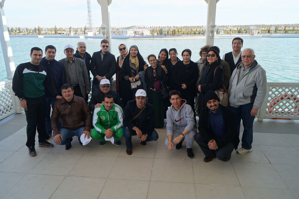 Field trip to the Turkmenistan littoral