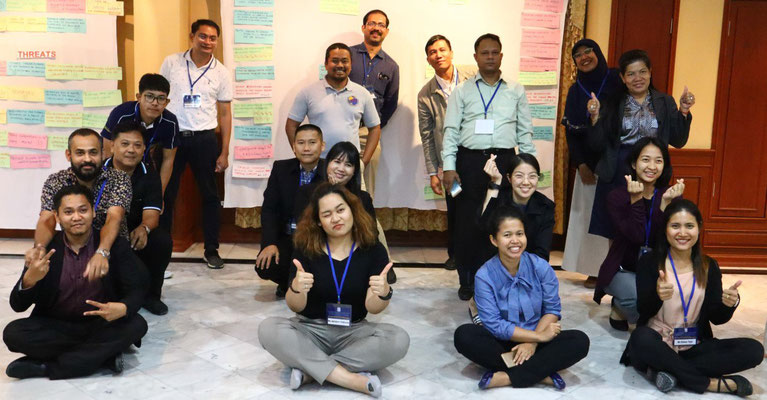 Class of 2018 after the completion of the SWOT exercise. Image credit: IOI Thailand