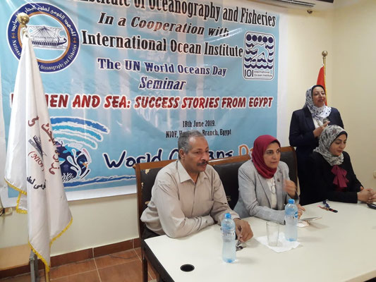 IOI EGYPT: A seminar was organised titled 'Women and Sea: success stories from Egypt' at the National Institute of Oceanography and Fisheries (NIOF)