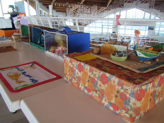 IOI MALTA: Some of the marine-themed student projects on show