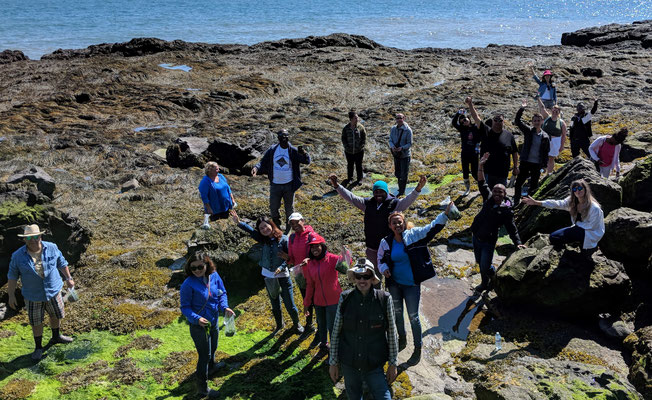 Participants during a field trip to the Bay of Fundy. Photo credit: M. Queeley