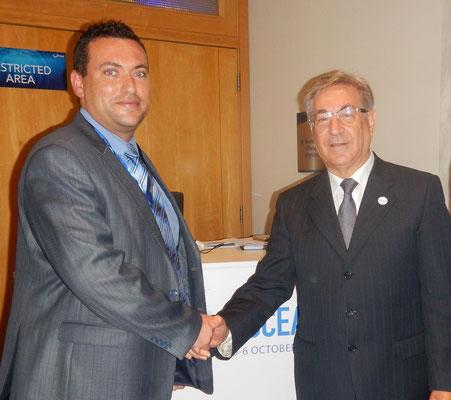 L-R: Prof Alan Deidun, Karmenu Vella. Photo credit: A. Deidun