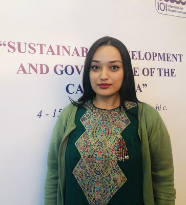 Selbi Gurbannyyazova, alumnus of the 2019 Turkmenistan Training Programme who summarised her experience (reported in the IOInforma 0219)