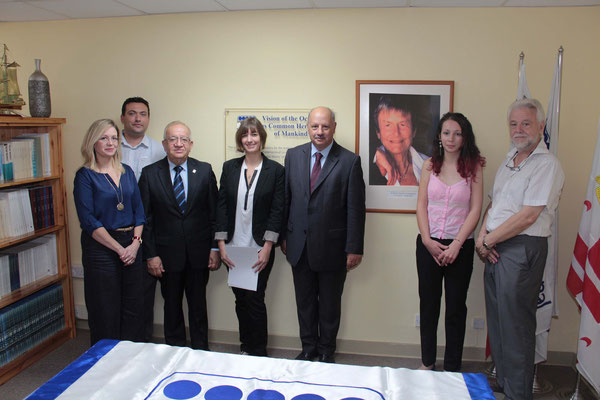 L-R: Ms Antonella Vassallo; Prof. Alan Deidun,; Dr Awni Behnam; Ms Kristina Edwards; Prof Alfred Vella; Ms Marija Mangion and Prof. Victor Axiak