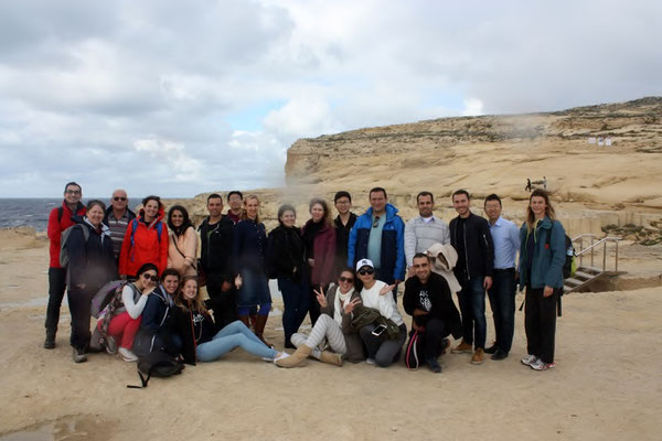 Class of 2017 at the Dwejra coastal protected area in Gozo. Photo credit: F. Trinquand