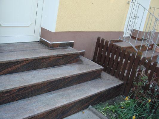 Treppenanlage Granit Balmoral