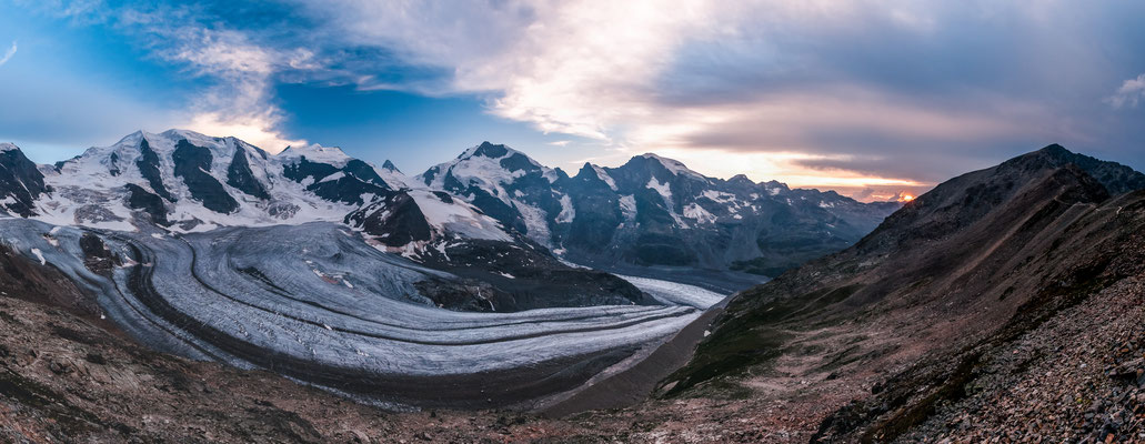 Morteratschgletscher / Berninagruppe Engadin Schweiz