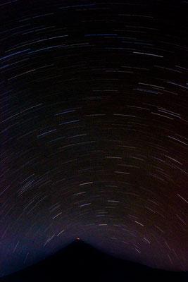 Vulkan Karangetang mit Sternenhimmel