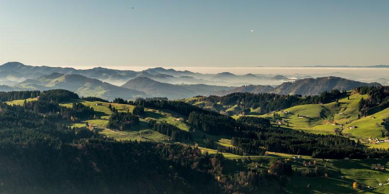 Blick vom Kronberg Alpstein, Schweiz