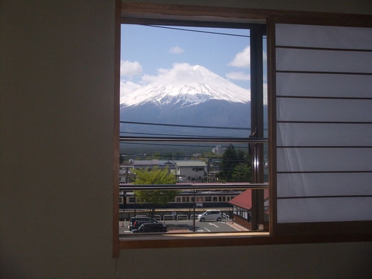 View of Mt. Fuji from room window