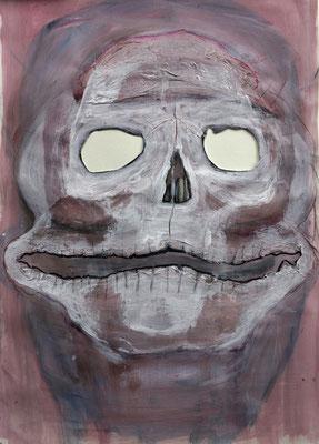 Ohlochda, 2016, Acrylbinder,Pigmente, Kohle, Tuschen, u.a. auf Papier, 59 x 42 cm