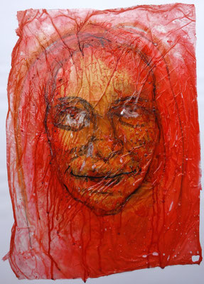 Herzrausch, 2016, Acrylbinder, Pigmente, Tusche, Papier, u.a. ca. 60 x 43 cm
