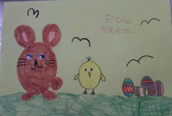 Amra aus der Pinguinklasse hat gemalt und ...