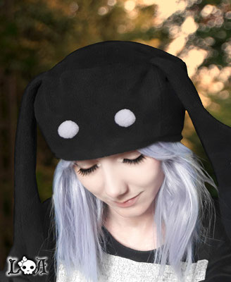 Kawaii Bunny Hat in Black