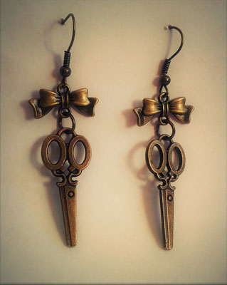 Steampunk Scissors Earrings