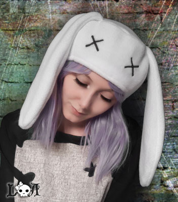 Creepy Cute Bunny Hat in White