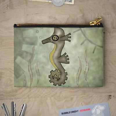 Steampunk Seahorse Pencil Case