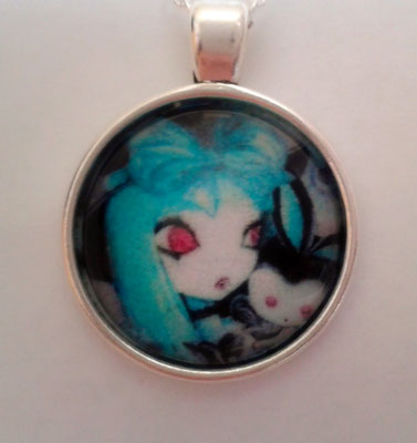Pastel Goth Girl Bubble Necklace