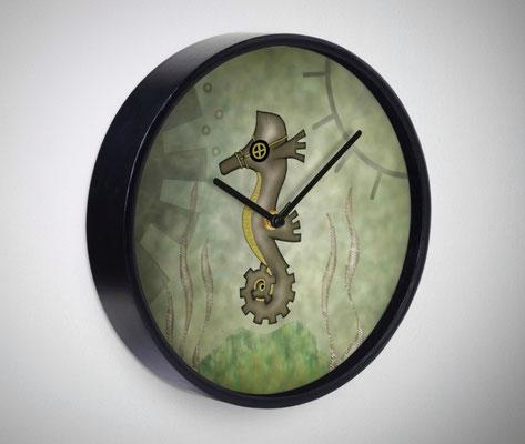 Steampunk Seahorse Clock