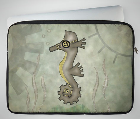 Steampunk Seahorse Laptop Cases