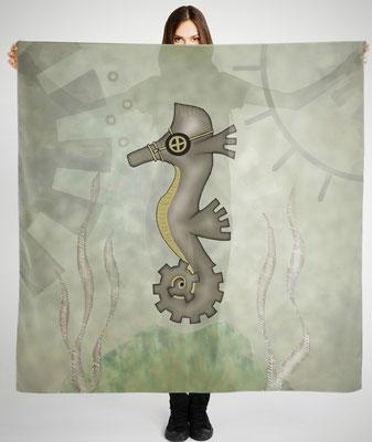 Steampunk Seahorse scarf