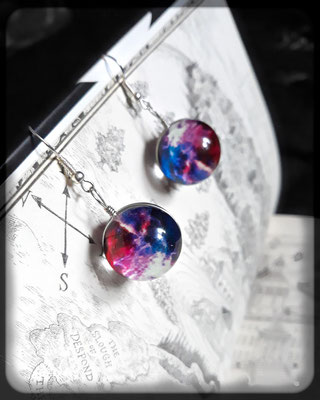 Pastel Goth Galaxy Orb Earrings